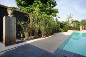 Tuinontwerp met zwembad